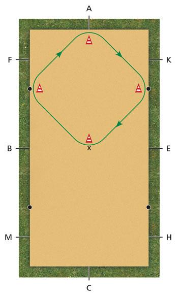 Diagram - Dressage Exercise Square