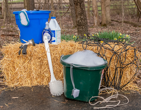 Cleaning and Disinfecting Horse Feed Equipment