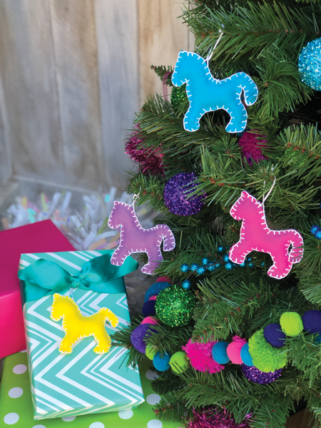 Felt Horse Ornaments
