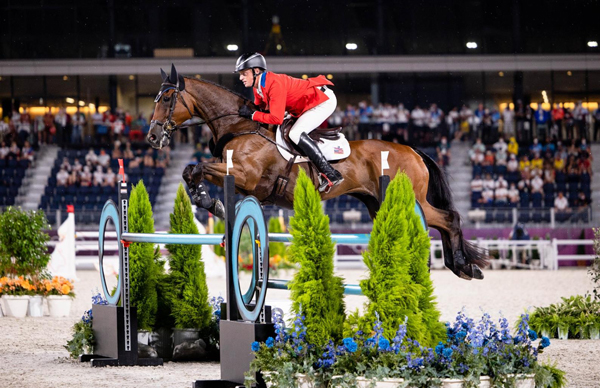 Doug Payne and Vandiver - Tokyo Olympics US Eventing Show Jumping