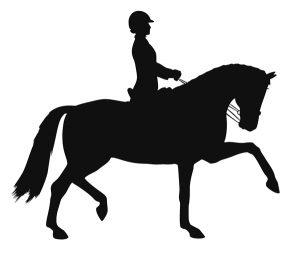 Dressage Rider Silhouette