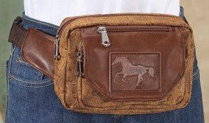Embossed Horse Waist Bag