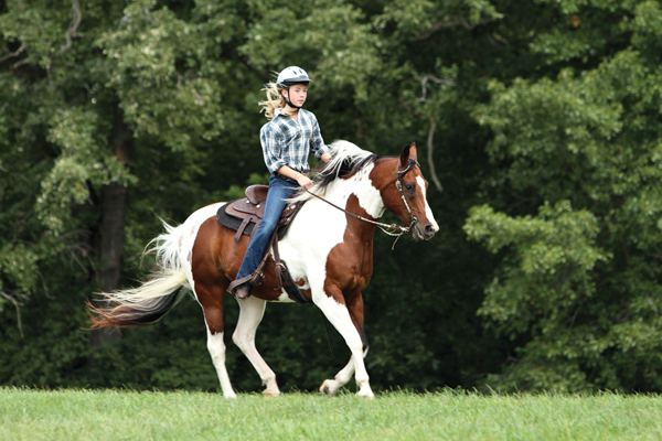 Young Rider Riding Western