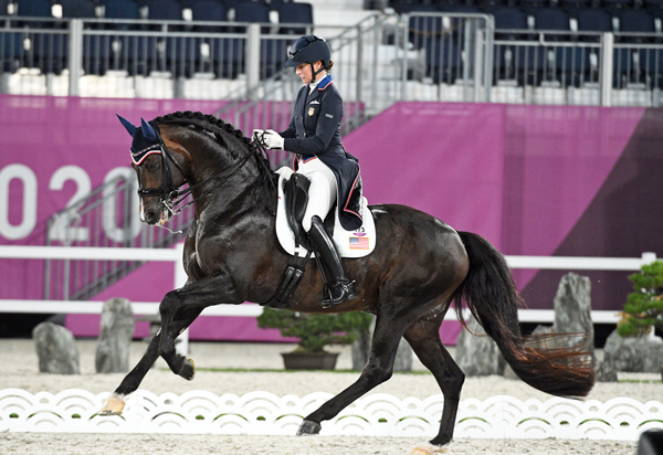 Sabine Schut-Kery and Sanceo - Tokyo Olympics Dressage GP Freestyle Individual Medals