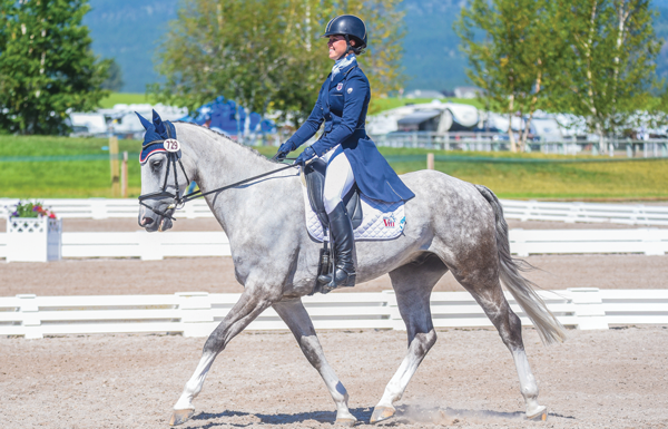 Gracie Elliott's dressage test at NAYC