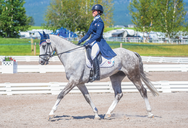 Gracie Elliott during her dressage test at NAYC - Dreams of Competing at the NAYC