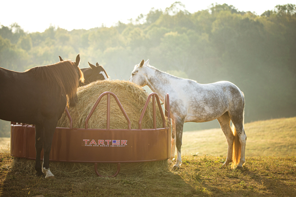 Tarter Round Bale Feeder - Hay Accessories for Horses
