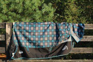 Horse blanket folding.