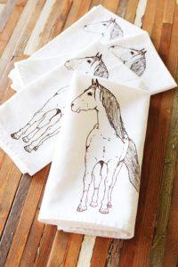 English Horse Things Cloth Napkins
