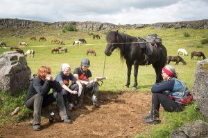 Iceland trip riders bonding