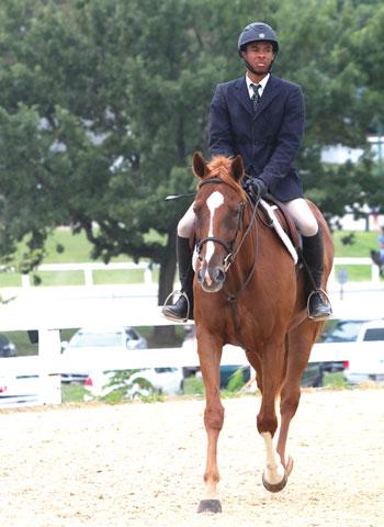 Young Black Equestrian Male Rider