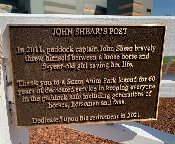 John Shear Plaque