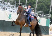 Kendra Wise on Partner in the USEF Saddle Seat Adult Amateur Medal Final