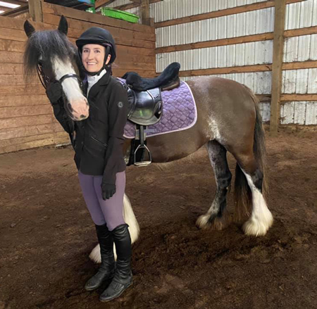 Kristina Lotz During Her First Virtual Horse Show