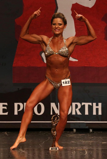 Kaia Kroll at a bodybuilder