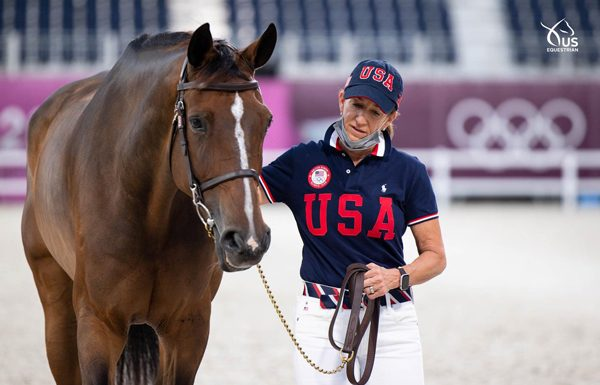Laura Kraut and Baloutinue - Tokyo Olympics Jumping Second Horse Inspection