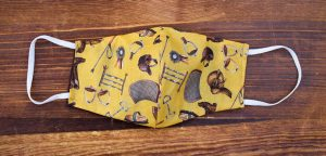 Yellow Equestrian Face Mask