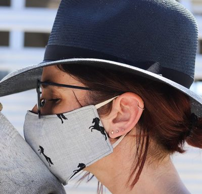 Milton Menasco Pony Face Mask