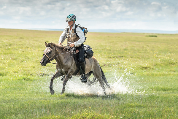 Robert Long, oldest winner ever, in the 2019 Mongol Derby