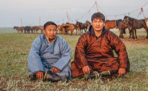 Nomadic herdsmen in Mongolia