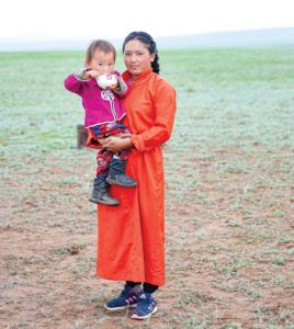 Local Mongolian women