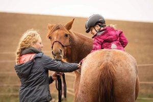 Little Girl on Mustang