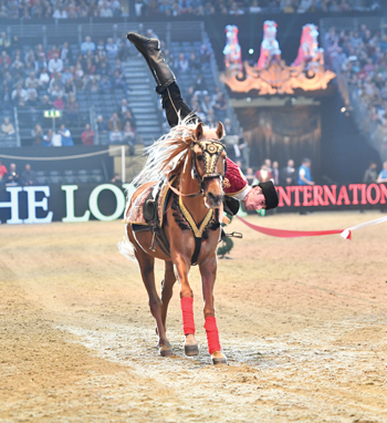 Vaulting demonstration at the London International Horse Show