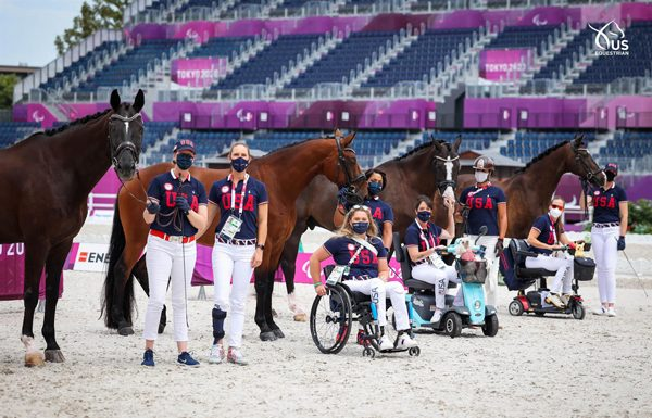 US Para Dressage Team at Tokyo Paralympics First Horse Inspection