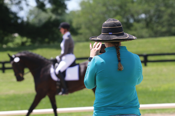 Taking photos and videos at a horse show