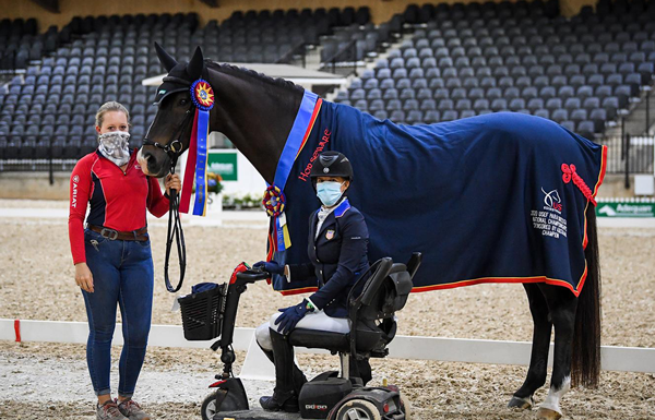 Rebecca Hart and El Corona Texel - USEF Para Dressage National Championship