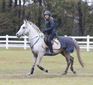 Reine Pagliaro and Beautiful Knightmare in the USEF Endurance National Championships