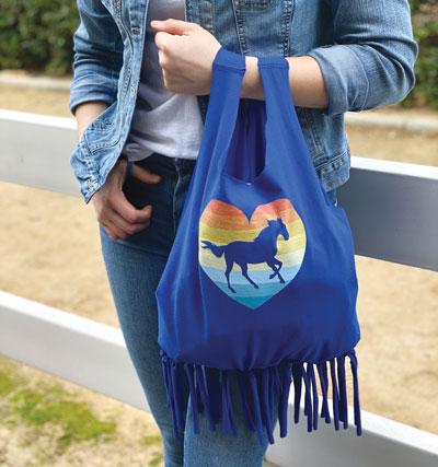 DIY Spring Into Fashion: Make a No-Sew Bag with a Horse Design