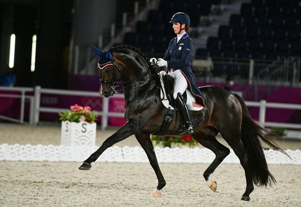 Tokyo Olympics Dressage Grand Prix with Sabine Schut-Kery and Sanceo