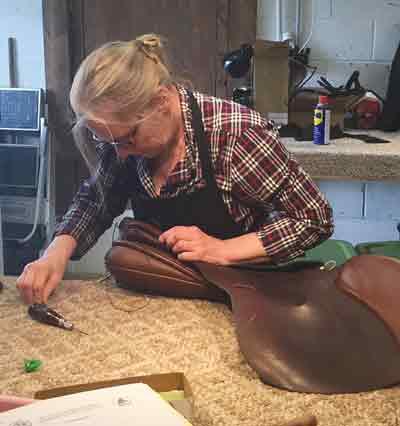 Repair or Fixing a Saddle