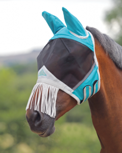Shires Equestrian Fine Mesh Fly MasK with Nose Fringe