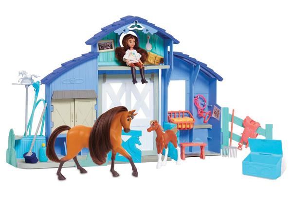 DreamWorks Spirit Riding Free Play Paddock Set - - Holiday Gift for Horse-Loving Kids