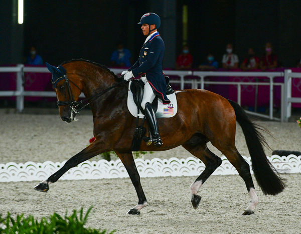 Steffen Peters and Suppenkasper, Grand Prix, Olympic Games Tokyo 2020