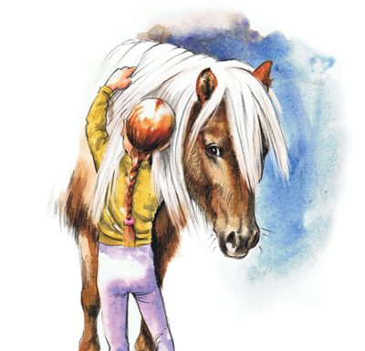 Short Story - New Pony Home with Two Little Girls