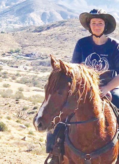 Vera V-Abdallah on Tarzan, Arabian Horse