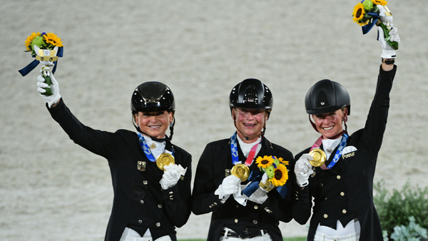Team Germany won the Gold Medal in the Dressage Team event at Tokyo Olympics