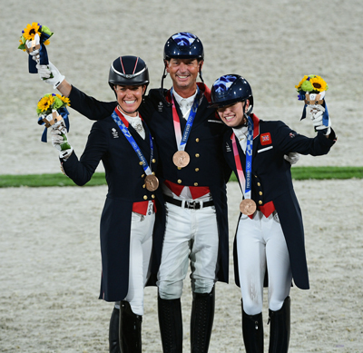 Team Great Britain won the Bronze Medal in the Dressage Team event at Tokyo Olympics