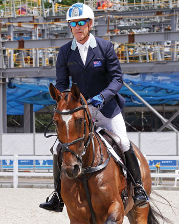 Andrew Hoy at Equestrian Test Events for Tokyo Olympics
