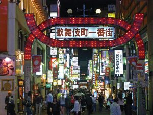 Kabukichu entertainment district in Tokyo, Japan