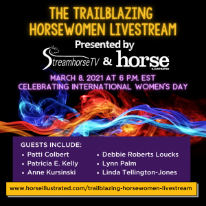Trailblazing Horsewomen Livestream Promotional Image