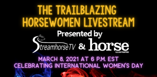 Trailblazing Horsewomen Livestream Promotional Image