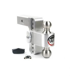 The Weigh Safe 180 Drop Hitch features a dual 2-inch and 2 5/16-inch ball combo that offers drop lengths of 4 to 10 inches, allowing you to tow a variety of trailers with a single hitch.