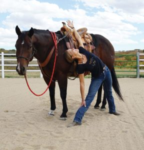 Triangle Pose - Yoga with your horse