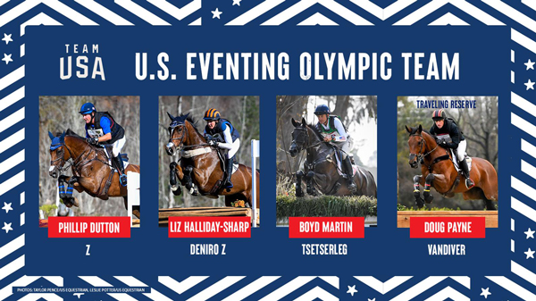 U.S. Eventing Olympic Team for Olympic Games Tokyo 2020