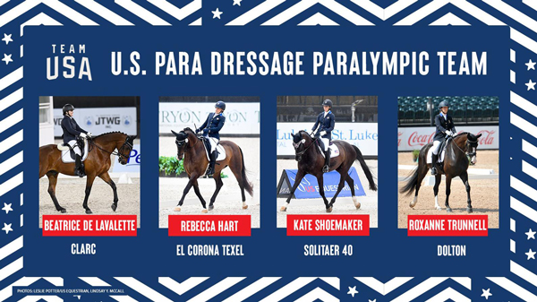 U.S. Para Dressage Team for the Olympic Games Tokyo 2020