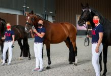 U.S. Dressage Team Horse Inspection at the Olympic Games